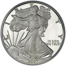 WALKING LIBERTY SILVER BULLION COIN USA AMERICAN EAGLE 1oz 2007 IN CAPSULE