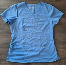 New listing Women's Periwinkle Blue Grey's Anatomy Scrub Top in Size Medium Sku #16