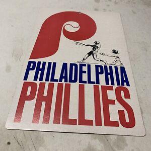 Vintage 1974 Fleer Philadelphia Phillies Baseball Big Sign Cardboard Fan Souveni