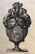 Le Pautre (1618-1682) Pot Aphrodite et Putti gravé par Pequegnot estampe 1856