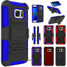 Shockproof Hybrid Armor Case Belt Clip Holster for Samsung Galaxy S7 Edge Active