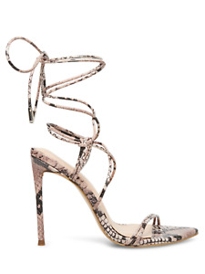 Steve Madden Winnie Harlow X Badgirl Strappy Lace Up Stiletto Shoes Heels Size 9