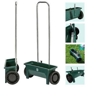 12 Ltr Plastic Garden Lawn Seed Salt Grit Spreader Fertiliser Outdoor Feed Grass