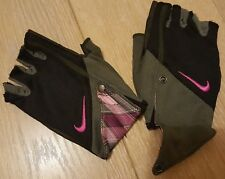 Nike Dri-Fit Guantes Correr Para Mujer Negro Gris Rosa hacerlo Talla M