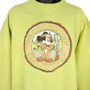 Mickey Mouse Camping Sweatshirt Vintage 90s Fort Wilderness Resort Size XL
