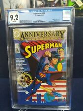 Superman #400 CGC 9.2 NM White Pages Frank Miller Pin-up Back Cover DC Comics