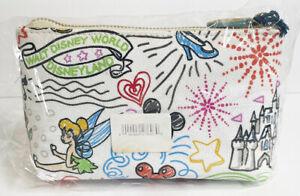 Disney Dooney & Bourke Sketch Bag Cosmetic Case Mickey Balloon Dumbo Tinker Bell