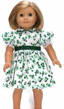 St Patrick's Day Shamrock Dress for 18 inch American Girl Doll Clothes