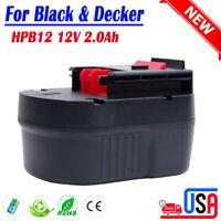 12V Battery For BLACK & DECKER HPB12 A12 FSB12 A1712 BDID1202 HP12K FS120B A12EX