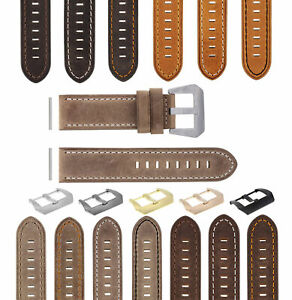 22-24MM PREMIUM PAM LEATHER WATCH STRAP BAND FOR 40- 44MM PANERAI GMT WATCH