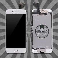 Display LCD für iPhone 6 mit RETINA VORMONTIERT Glas Komplett Front WEISS TOP