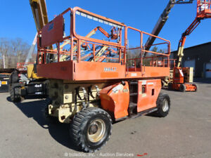 2008 JLG 3394RT 33' 4WD Dual Fuel Rough Terrain Scissor Lift Man Aerial bidadoo