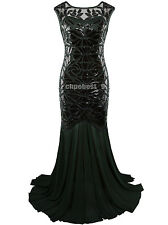 Great Gatsby 1920s Flapper Dress Long Evening Bridesmaid Prom Gown Party Dresses