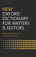 New Oxford Dictionary for Writers and Editors (Hardback book, 2014)
