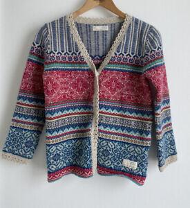Odd Molly Amazing Designer Colourful Wool Cardigan / Jumper. Size 2 / 10 Aus