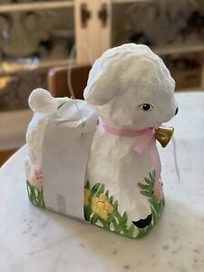 Bethany Lowe Retro Lamb Bucket Large