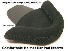 Motorcycle DOT Half Helmet Protective Comfortable Deluxe Ear Pad Inserts No Wind