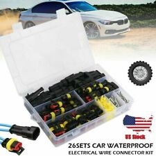 1-4 Pin 26pcs Set Way Auto Car Waterproof Electrical Connector Plug Wire Kit US