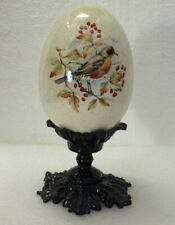 """""""Beautiful"""" Vintage Egg W/Royal Robin Painted On Stand"""