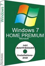 Windows 7 Home Premium mit  Key und DVD, 32/64 Bit
