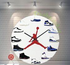 """NEW Premium 12"""" Clock Jordan 1-12 Blue AL 2D Quartz nike supreme off OW"""