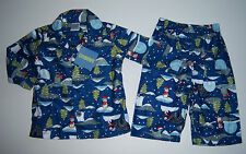 NWT Gymboree Holiday Arctic Penguin Flannel Pajama 6-12