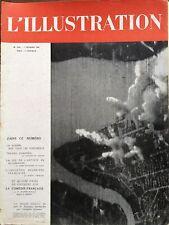 L'ILLUSTRATION 1942 N 5161 LA PORT DE RANGOON BOMBARDE PAR LES JAPONAIS