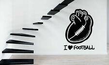Wall Stickers Vinyl Decal Football Sport Love Heart Fan Wall Decor Mural  ig011