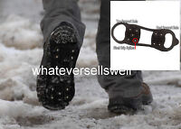 SNOW ICE GRIPPERS grips anti slip boot shoe spikes cleats size 3-6 EUR 34-39