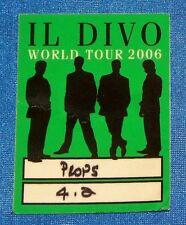 Il Divo 2006 World Tour Working Crew Satin Backstage Pass