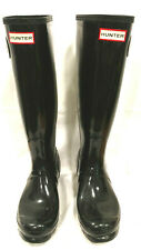 Hunter Original Tall Gloss Rain Mud Rubber Water Boots Women Sz 7  / Men Sz6