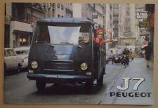 PEUGEOT J7 RANGE orig 1970 1971 Prestige Sales Brochure Depliant in French
