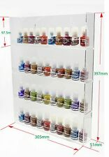 1 High Gloss Acrylic Wall Mounted 4 x 8 Nail Polish Display Rack     ANPR26D-048