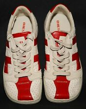 DIESEL Clarita Shoes Beige Red Leather Upper Tie Up Women Size 7