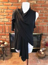 BoHo Hippie CHIC Urban Dark Gray Draping Soft Layering Vest Jacket M