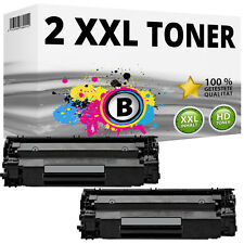 2x XXL TONER PATRONEN für HP LaserJet P1005 P1006 P1007 P1008 Black 35A CB435A