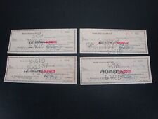 1937 Baltimore RADIO STATION WFBR (4 cks) PUNCH CANCEL CHECKS ~ WJFK, WLIF, WJZ