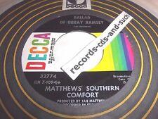 MATTHEW'S SOUTHERN COMFORT-BALLAD OF OBRAY RAMSEY/WOODSTOCK-32774-VG VINYL 45