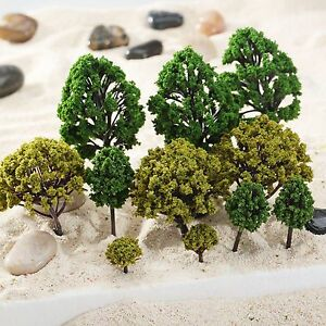 40Pcs Model Trees 2 Colors Mixed Size 1:75-300 Scale Architecture Park Scenery