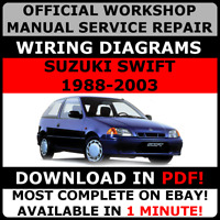 # OFFICIAL WORKSHOP Service Repair MANUAL SUZUKI SWIFT 1988-2003 +WIRING DAIGRAM