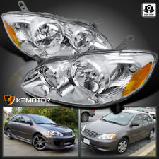 For 2003 2008 Toyota Corolla Clear Replacement Head Lamps Headlights Left Right