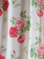 Cath Kidston antique rose white FQ 50cm square lightweight fabric new cotton