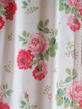 Cath Kidston antique rose white 100cm square lightweight fabric new 100% cotton