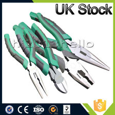 4pc Pliers Set 8inch Combination Long Nose Side Cutters Plier UK Stock