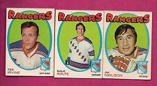1971-72 OPC RANGERS NEILSON + IRVINE + ROLFE  CARD (INV# A1817)