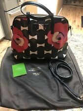Kate Spade Lilah Laurel Way Flower with Boe Ties Saffiano Leather Purse