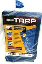 Bazic Products 4 ft x 6 ft 5 Mils Thick All Purpose Blue Tarp Cover-Brand New!