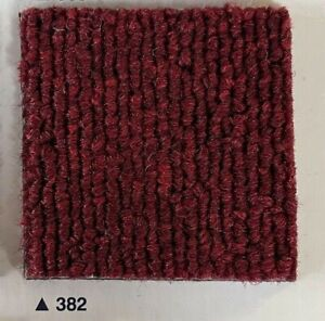 Brand New Boxed Commercial Select Red 382 Carpet Tiles Excellent Value in stock