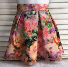 Aeropostale Women's Size S Pleated Multicolor Skater Mini Skirt Spandex.