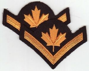 CANADA Canadian ARMED Forces Career Private Pay Level 4a stripes rank chevrons